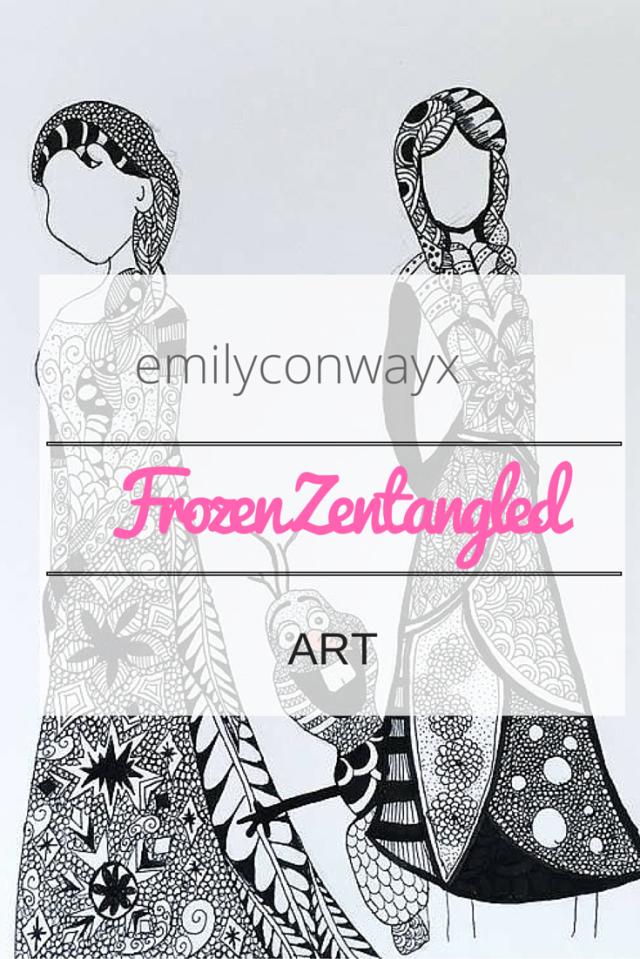 zentangled frozen art
