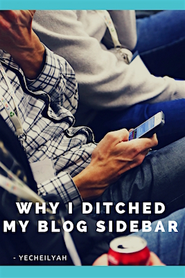 Why I Ditched My Blog Sidebar