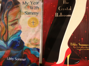 two book covers: 'My Year With Sammy' and 'The Crystal Ballroom'